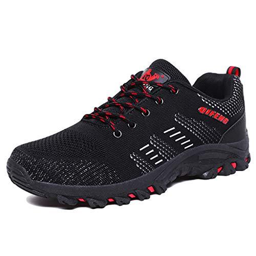 MSDOE Wandelschoenen voor heren, trekking, klimmen, sneakers, schokdemping, antislip, werkschoenen, mode mesh, ademend, lichte sneakers