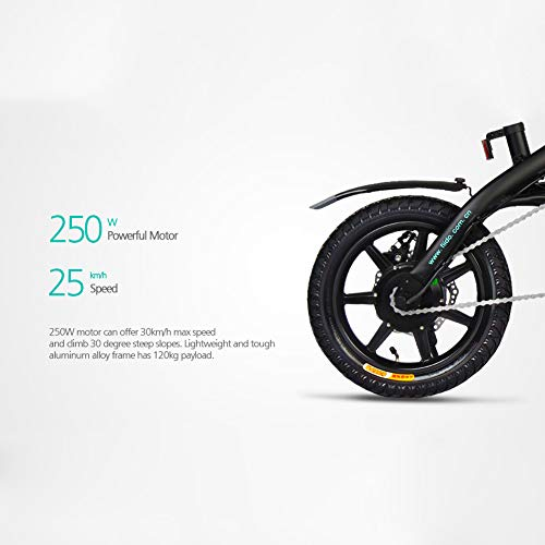 Soulitem Folding Electric Bike - Portable Easy to Store, LED Display Electric Bicycle Commute Ebike 250W Motor, 11.6Ah Battery, Three Modes Riding assist range up 80-90km-ONE - YEAR - WARRANTY(Black)