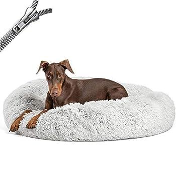 Puppy Love Panier Chien, Coussin Chien Anti Stress XXXL Dehoussable, Paniers Et Mobilier pour Chiens, Orthopedique Lit Apaisant Comfy pour Chien, Améliorer Le SommeilGray-100cm