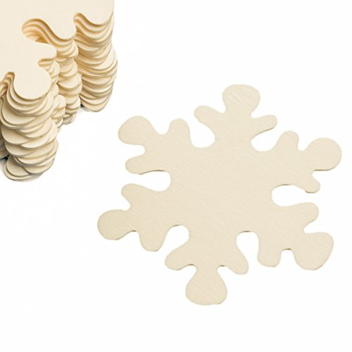 Unfinished Wooden Snowflake Cutouts