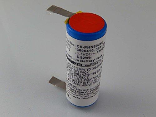vhbw Akku kompatibel mit Philips Norelco 8894XL, 8895XL, 9160XL, 9170XL, 9170XLCC, 9190XL Rasierer Haarschneider (1600mAh, 3,7V, Li-Ion)