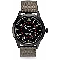 As Seen on TV American Aviator ASOTV Men's Quartz Metal and Nylon Casual Watch, Green Band (AMAV01)