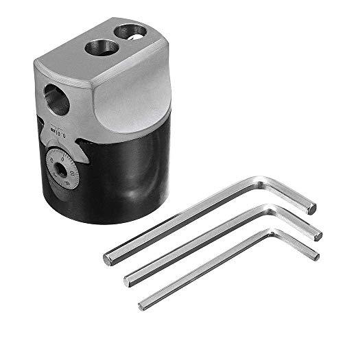 LIZANAN Drill Mechanische Teile, F1-12 2 Inch Bohrkopf 50mm Lathe Fräswerkzeughalters for 12mm Bohrstange Gearheads Drehbank