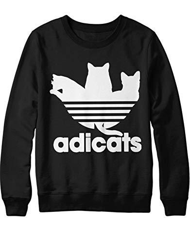 HYPSHRT Herren Sweatshirt Adicats H000048 Schwarz S