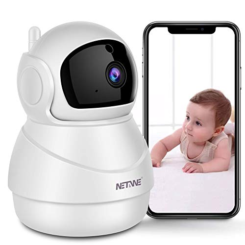 Security Camera WiFi IP Camera for Home Security Camera Pan/Tilt/Zoom Baby Monitor Pet Camera with Two-Way Audio, Night Vision, Motion Detection, Cloud Storage - iOS/Andriod/PC Available