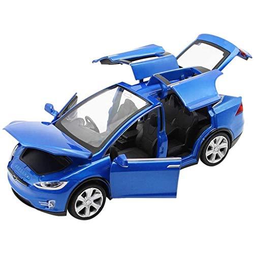 QRFDIAN Los niños de simulación de modelos de automóviles Funde auto del metal, 1: 32 niños de aleación de coches modelo TSL, recogida hacia atrás y parpadeantes y sonido musical y los niños j