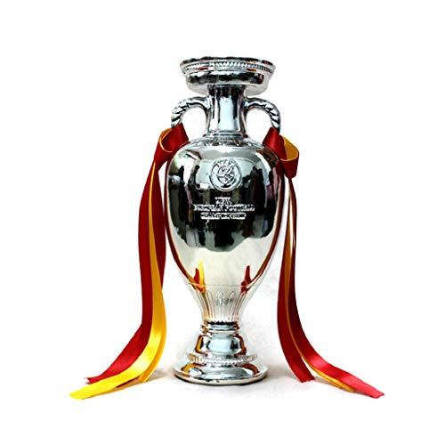 Trofeos Campeón de Oro Base de mármol Recuerdo de la Copa de Europa de 2016 Hollywood Mejor Regalo Medalla Modelo (Color : Silver, Size : 34 * 23 * 18cm)