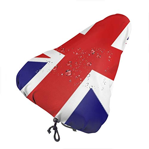 BYTKMRY Bike Seat Cover,UK Flag Waterproof Bike Seat Rain Cover with Drawstring,Rain and Dust Resistant