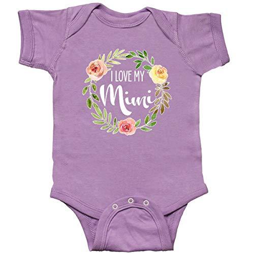 inktastic I Love My Mimi- Flower Circle Infant Creeper 6 Months Lavender