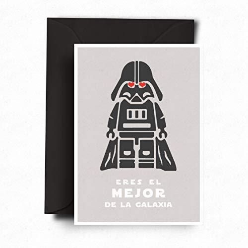 Tarjeta Dia del Padre⎪Postal Star Wars Guerra de las Galaxias ⎪ Postal Día del Padre, San Valentín o Cumpleaños