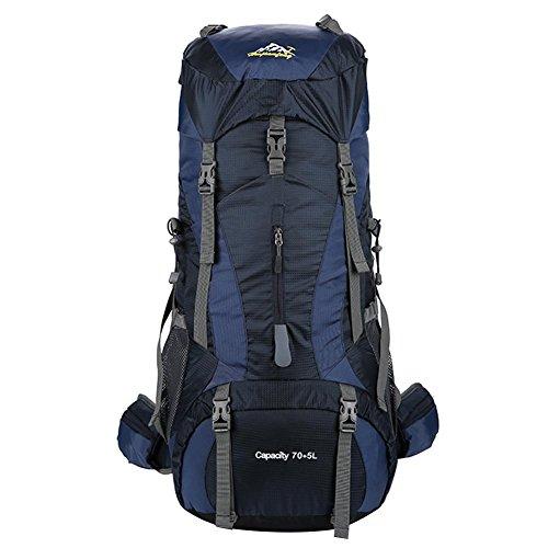 chebao, Mochila de senderismo, mochila de viaje impermeable, de nailon de 40 l, impermeable, mochila de gran capacidad, mochila de escalada