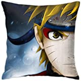 KINGAM Fundas de almohada japonesas Naruto Funda de cojín para sofá cama, silla, decoración del hogar (45 x 45 cm)