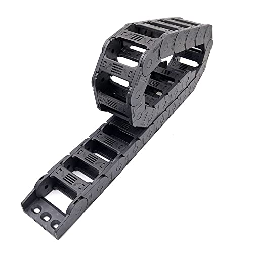 Towline Cable Drag Chain,Plastic Towline L1000mm Towline Drag Chain Wire Carrier Cable with End Connector for Router Machine Tools Transmission Cable Chains Bridge Type