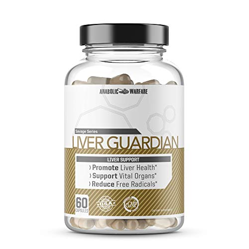 Liver Guardian by Anabolic Warfare - Liver Detox Pills and Liver Support Supplement with Milk Thistle, Turmeric, Burdock Root and More to Help Flush Toxins (30 Day Supply - 60 ct)