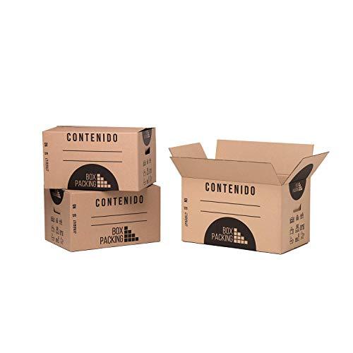 BOXPACKING | Pack 10 Cajas Cartón para Mudanza y Almacenaje | 50x30x30 cm | Con Asas | Tamaño Grande
