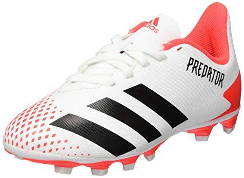 adidas Predator 20.4 FxG J, Scarpe da Calcio Bambino, Ftwr White/Core Black/Pop, 38 2/3 EU