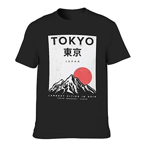 Camiseta japonesa de Tokio para hombre, patrón de estilo europeo con sensación suave regalo para Año Nuevo