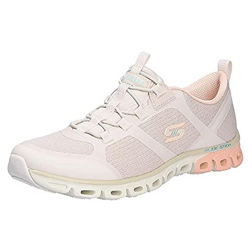Skechers Sport Active Glide-Step Dashing Days - Zapatillas deportivas para mujer, color beige, Natural Pink Ntpk, 35 EU