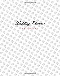 Wedding Planner - Notebook: (Silver White Edition) Fun Christmas notebook 192 ruled/lined pages (8x10 inches / 20.3x25.4 c...