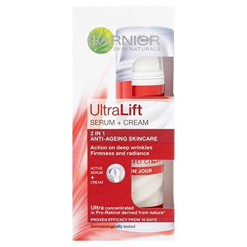 Skin Naturals Ultra Lift + Serum Creme Soin anti-rides global 2 en 1 – Garnier
