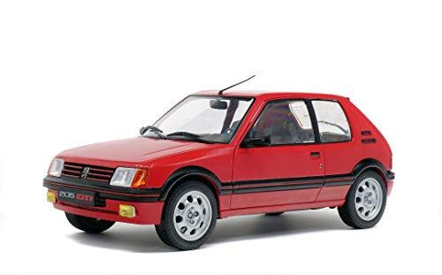 Solido - Maqueta de Coche Peugeot 205 GTI MK1 1985, Maqueta de Coche Escala, Color Rojo