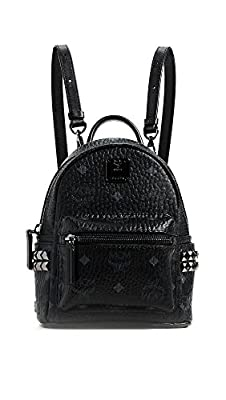 MCM Women's Side Stud Baby Stark Backpack, Black, One Size from MCM-Women's
