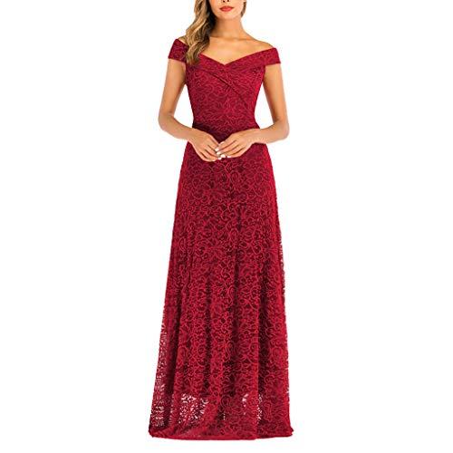 Lilicat Damen Elegant Partykleid Festlicheskleid Vintage Faltenrock Ballkleid Abendkleid Ärmellos...