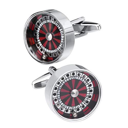 dailymall Mini Runde Roulette Wheels Casino Ball Glücksspiel Manschettenknöpfe Der