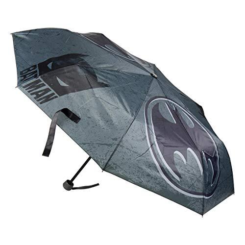 Artesanía Cerdá 2300000504 Paraguas Plegable Batman, Negro con Trazas Grises, 67 x18 x18 cm