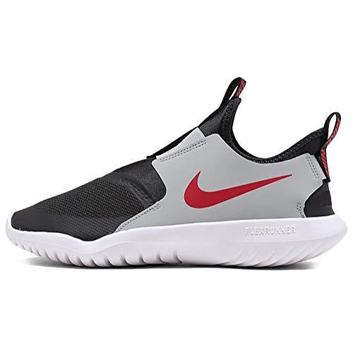 Nike Kids Flex Runner (Little Kid) Dark Smoke Grey/University Red 1 Little Kid M
