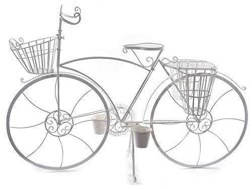 Gruppo Maruccia Biciletta Decorativa per casa e Negozi in Metallo Shabby Chic Bicicletta con vasi per Fiori e Piante