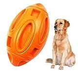 FOHYLOY Giocattoli da Masticare per Cani Giocattolo Squittivo per Aggressivo Chewer Cane Duro Dentale Mastica Giocattolo Cane indistruttibile(Arancione)