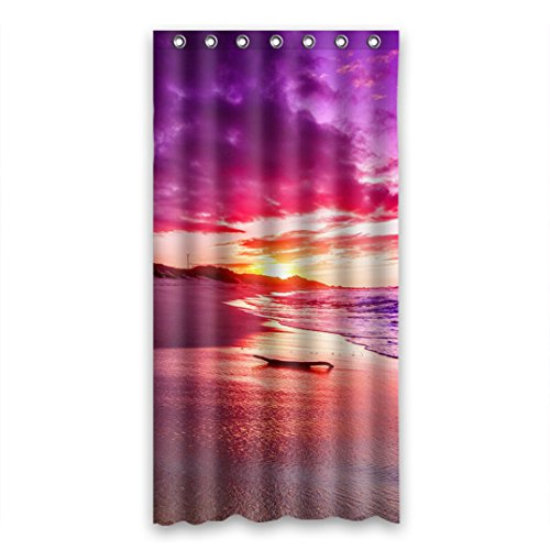 Dalliy Brauch Strand Sonnenuntergang Wasserdicht Polyester Shower curtain Duschvorhang 90cm x 183cm