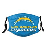 Chargers Face Covers Mask Washable and Reusable Fans Fashion Graphic Anti Wind and Dust Mouth Unisex