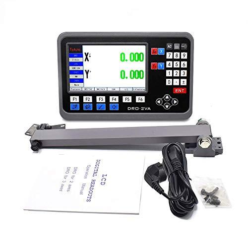 2 ejes LCD DRO pantalla digital 5µm TTL indicador de posición para su torno, fresadora, lijadora, etc., barco de Alemania (5µm-2Axis)