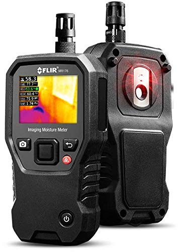 FLIR MR176 - Thermal Imaging Moisture Meter - with IGM (Infrared Guided Measurement), Replaceable Hygrometer, Pin and Pinless
