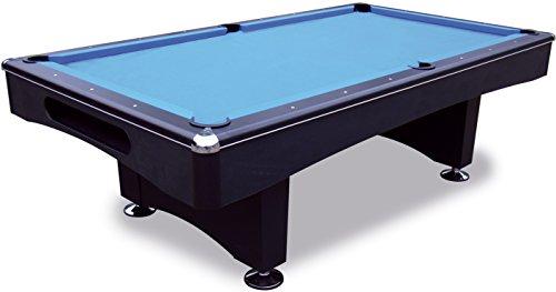 1a-sports Pool Billardtisch Black Pool 9 ft - 254x127 cm mit Schieferplatte inkl. Montage und Zubehörset von John West Billard
