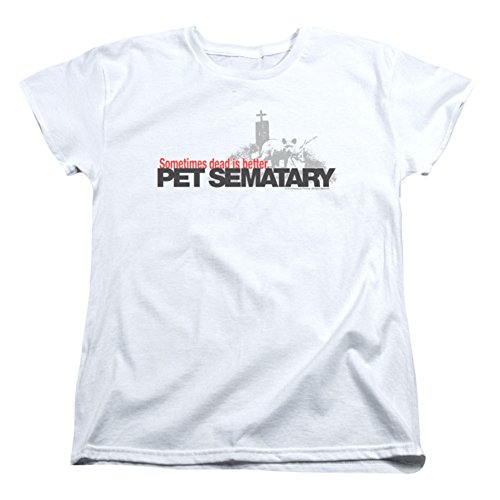 Pet Sematary Horror Novel Movie Stephen King Logo Women's T-Shirt Tee
