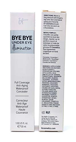 of it cosmetics concealers it Cosmetics Bye Bye Under Eye Illumination Full Coverage Anti-Aging Concealer, Medium Tan (Warm Medium), 1 Ounce Supersize