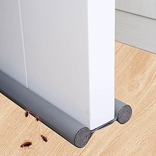 Xnuoyo 90 cm Tope para puertas Burlete Puerta Burlete Autoadhesivo Se puede cortar a medida Protección de doble cara contra corrientes de aire Antipolvo Aislamiento Acústico Prueba
