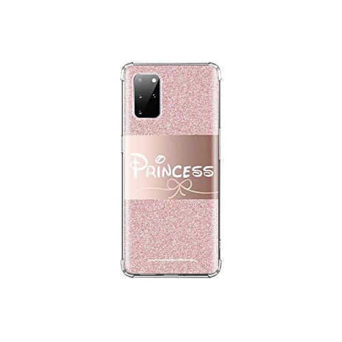 Funda para Samsung Galaxy S20 FE S10 S8 S9 Plus S10e Note 10 Lite 9 20 Ultra Airbag Funda Suave Rosa Bling-A09-para Samsung S10 5G