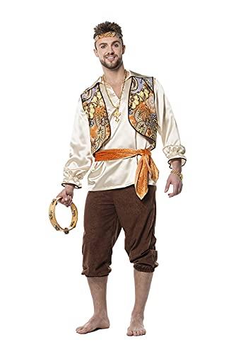 L3301420 orange-braun Herren Zigeuner Ungarisches Kostüm (52)