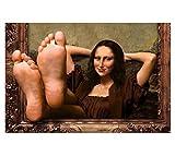 Wandkunst Bild Leinwand Malerei Humor Kunst Mona Lisa