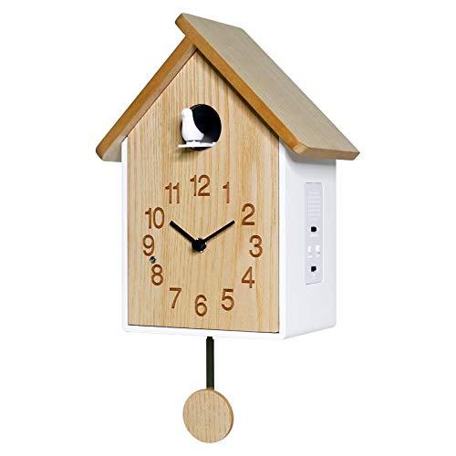 VESIFA Reloj de Cuco Reloj de Pared Cuco Reloj de Cuco Simple Sala de Estar casa de Moda Todo el Tiempo Estilo Europeo de Madera Maciza 30cm A