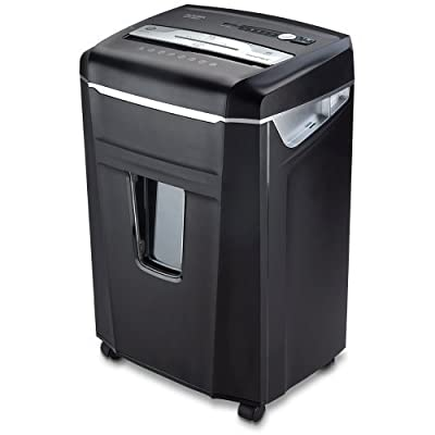 Aurora JamFree Crosscut-Cut Paper/CD/Credit Card Shredder with Pull-Out Wastebasket