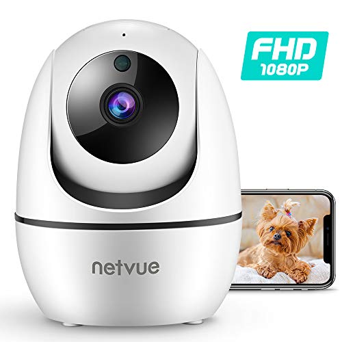 Dog Camera, Netvue 1080P FHD 2.4GHz WiFi Pet Camera, Indoor Security Camera for Pet/Baby/Nanny, AI Human Detection, Night Vision, Cloud Storage/TF Card, 2-Way Audio Compatible with Alexa