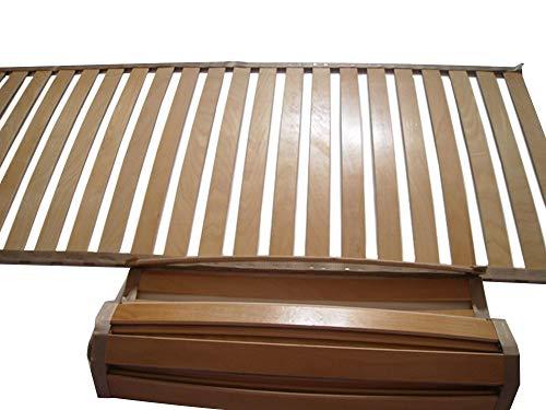 Bettendirekt - Lattenrost - Rollrost aus faederleisten buche schichtholz verleimt und lackiert - extra stabilen Leisten aus massiven buche - 24 Leisten - Größe: 80x200/79,5x198 cm