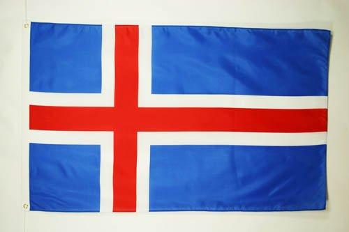 AZ FLAG Flagge Island 90x60cm - ISLÄNDISCHE Fahne 60 x 90 cm - flaggen Top Qualität