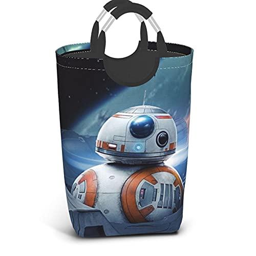 Cesto de lavandería de Star Wars R2-D2 para cuarto de baño, portátil, con asa, cesta de lavandería plegable grande