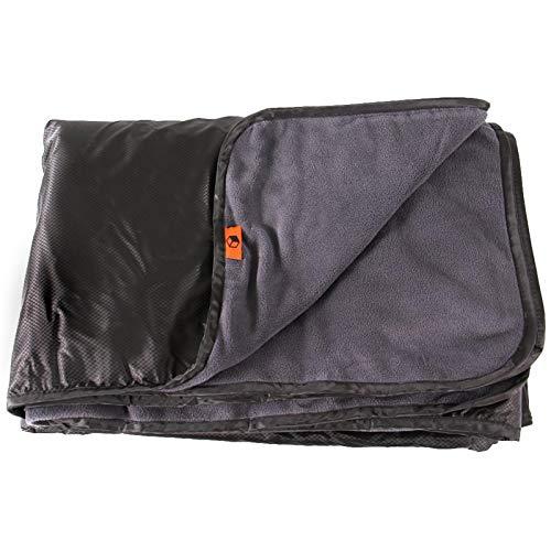 Brushed 55x78 Pulgadas Multifuncional Impermeable al Aire Libre con Capucha Impermeable Estera de Picnic Plegable y fácil de Llevar Camping (Bolsa de Tela)